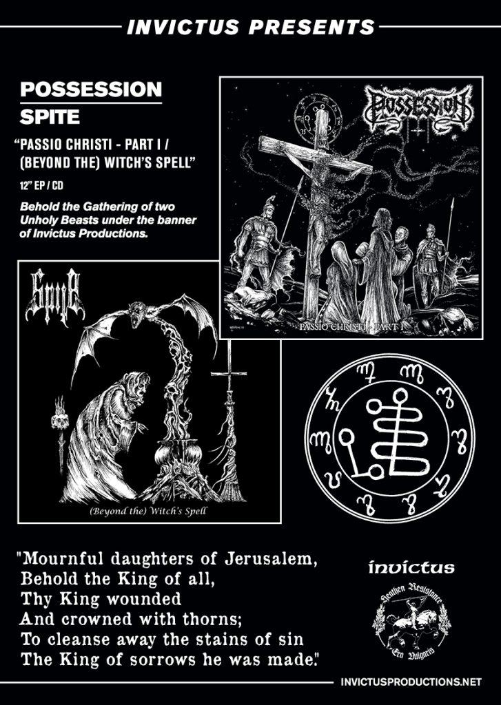 Afbeeldingsresultaat voor Possession/Spite Passio Christ / Witch's Spell Split